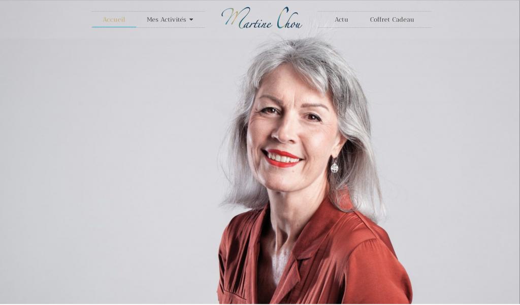 Page d'accueil Martine Chou